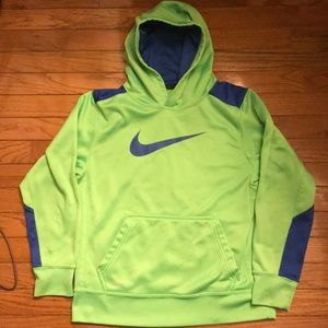 Boys Nike Hooded Sweatshirt.  Size Large